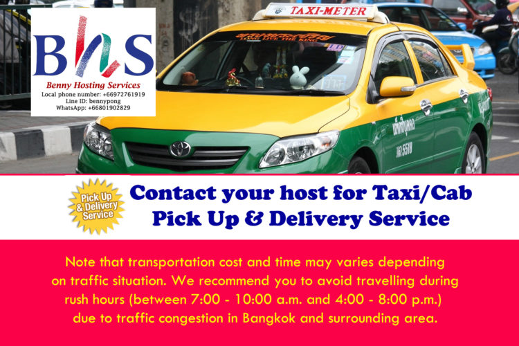 Taxi pickup and transfer service