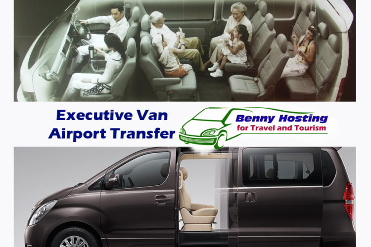 Executive private van airport pick-up and transfer